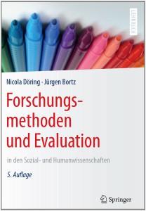 Buchcover von Döring, Bortz (2016): Forschungsmethoden und Evaluation